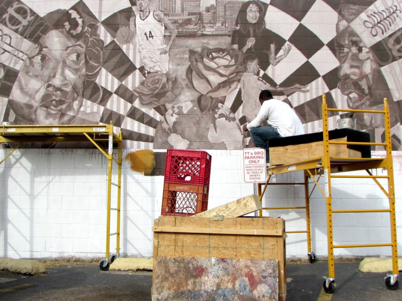Western Avenue Mural dedication May 20th at TT's Barbecue (436 S WesternAve)