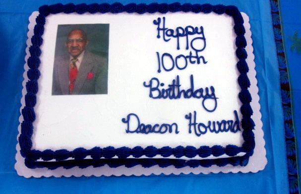 Congratulations to Centenarian Deacon WilburHoward