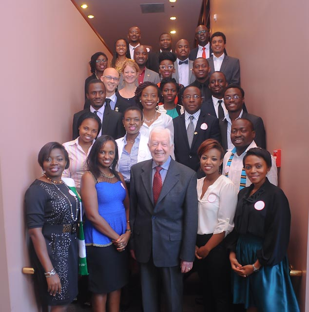 President Obama's Mandela Washington Fellows Meet Former President Jimmy Carter