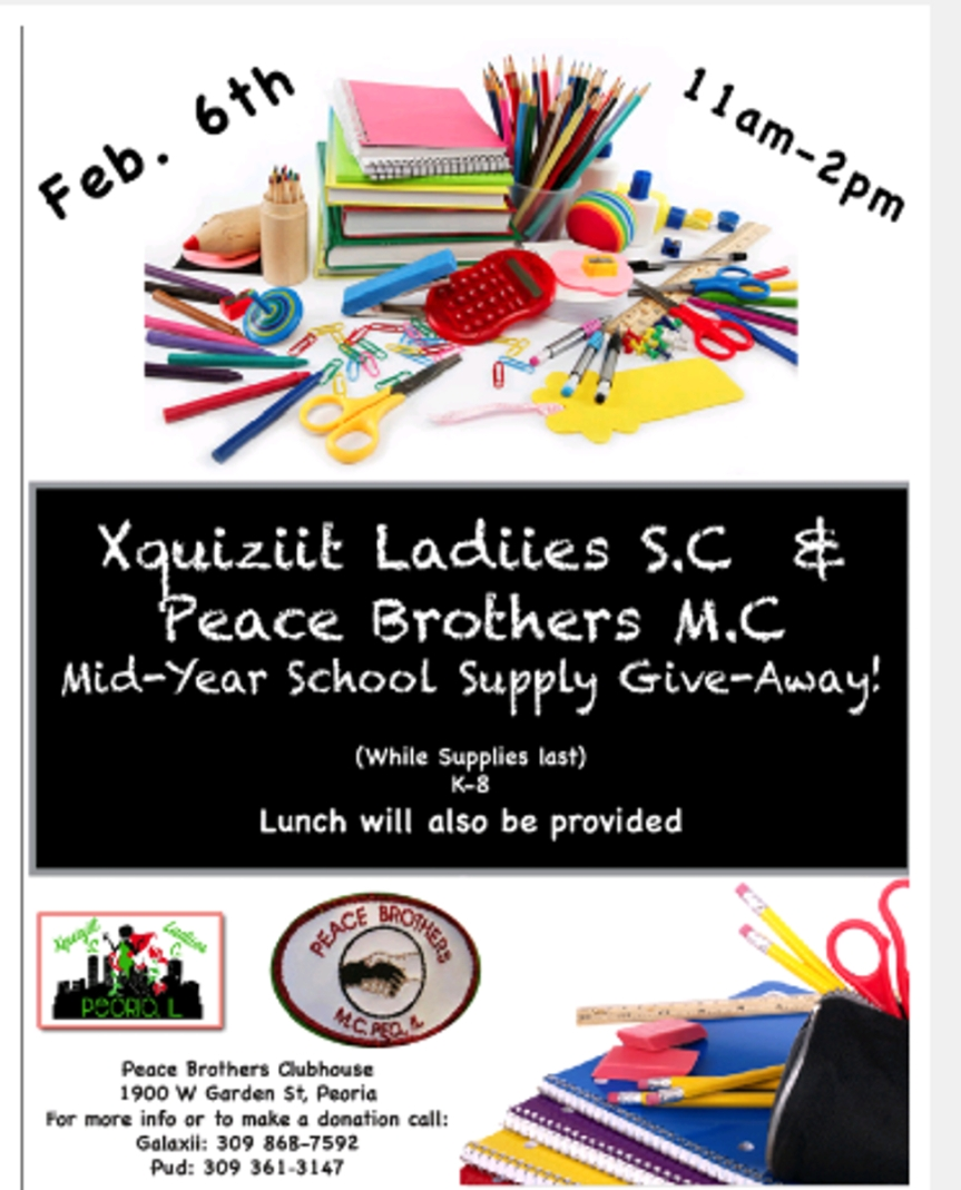 Mid-Year School Supply Give Away on February 6, 2016