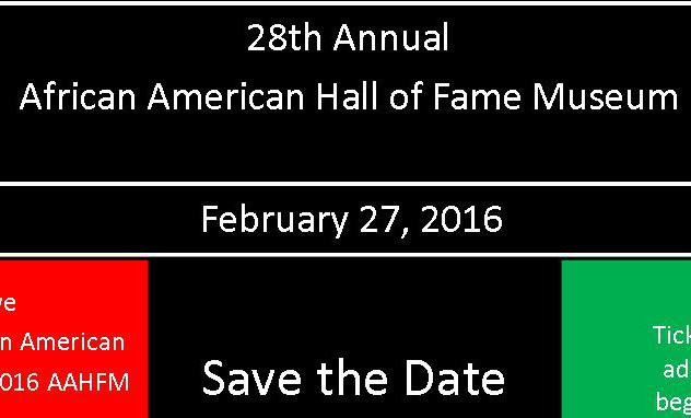 AAHFM Announces 2016 Hall of Fame Inductees and 28th Annual Red, Black and Green Ball to be held February 27, 2016