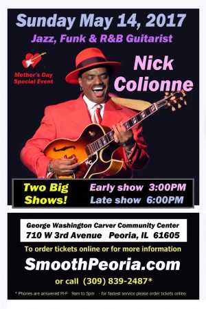 Nick Colionne to Perform at George Washington Carver Center, May 14,2017
