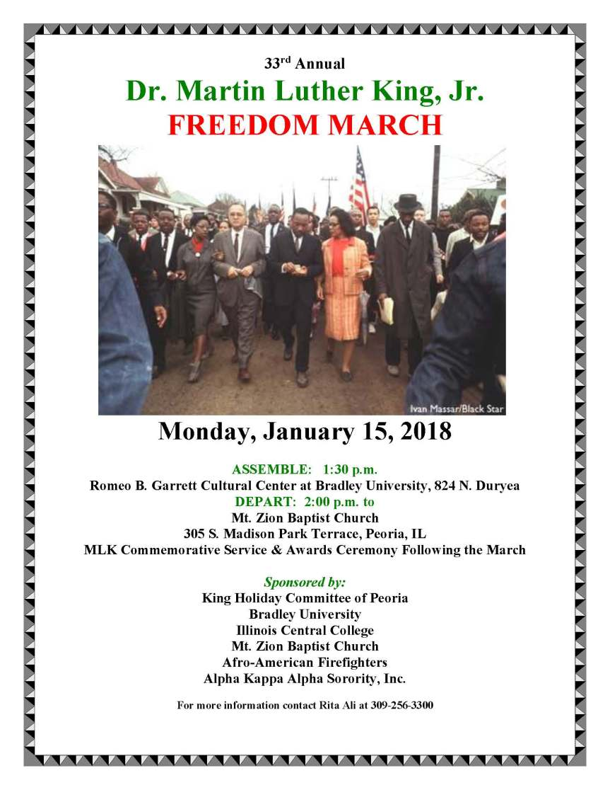 2018 Martin Luther King Freedom March & Commemorative Service January 15, 2018