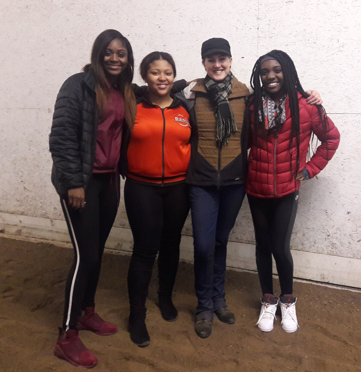 BreAnnia Webster Glow Girls with the owner of the barn and business
