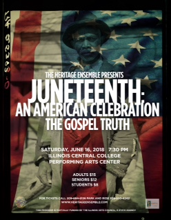 Heritage Ensemble Juneteenth flyer