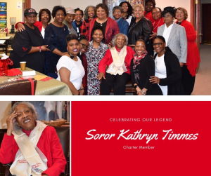 Members of Delta Sigma Theta Sorority with Mrs Timmes