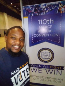 "When We Fight We Win!"" Peoria is represented at the 110th NAACP Convention By Spanky Edwards"